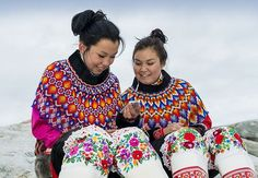 Girls from Greenland in their National costumes