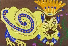 Ukrainian representative of naïve art: Maria Prymachenko -Cat's King (1976) / Український представник наївного мистецтва: Марія Примаченко- Котячий цар (1976)