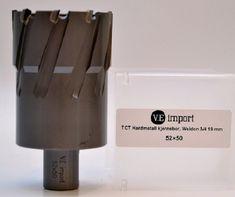 T.C.T kjernebor med hardmetall skjær 52x50
