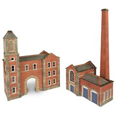 N Scale Factory Entrance Boilerhouse - Railway Models & Toys from Metcalfe - Ready Cut Card Kits