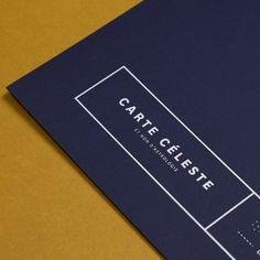 Image of Carte Céleste - Édition bleu nuit / argent