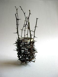 The Vessel Series « Stuart Cairns : Woven Thorn Vessel