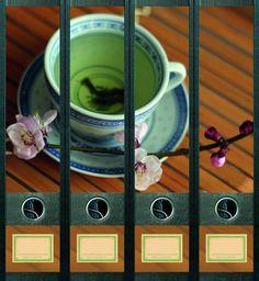 Lever Arch File Label Green Tea AJ431