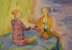 Story swapping over a hank of yarn