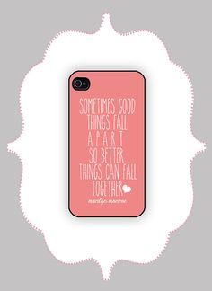 iPhone  Case Marilyn Monroe Quote iPhone 4 Case by CalisCases, $16.99