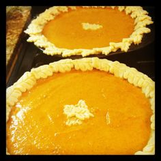 My #pumpkin pies with #autumn leaves crust #thanksgiving
