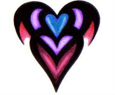 Heart Tattoo Design Stencil