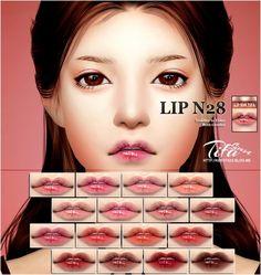Lips N28 MF at Tifa Sims • Sims 4 Updates