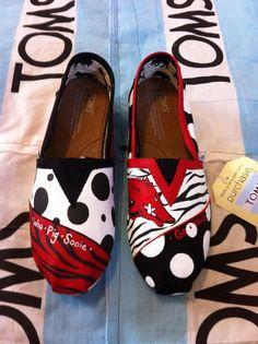 Custom Hand Painted Toms by BekasBargains on Etsy, $75.00