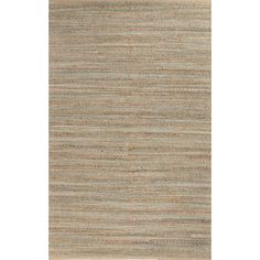 Jaipur Rugs Naturals Solid Pattern Taupe/Green Jute and Cotton Area Rug HM15 (Rectangle)
