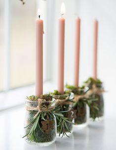 Christmas Candle Decorations, Christmas Candles, Rustic Christmas, Winter Christmas, Christmas Time, Christmas Wreaths, Holiday, Advent Wreaths, Felt Christmas
