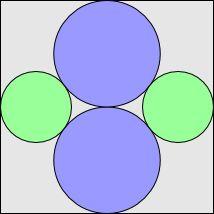 """""""Sangaku"""" - square and circles"""