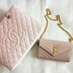 Chanel tote and YSL WOC