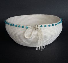 Clothesline Basket, Coiled Basket, Serenity by JKTextileArts on Etsy https://www.etsy.com/listing/280677844/clothesline-basket-coiled-basket