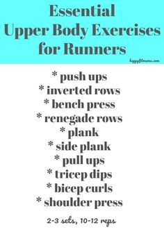 Essential Upper Body Strength Training for Runners - Happy Fit Mama