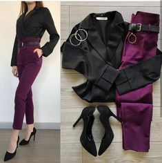 Image in Mi estilo collection by Casual Work Outfits, Business Casual Outfits, Simple Outfits, Classy Outfits, Stylish Outfits, Girls Fashion Clothes, Teen Fashion Outfits, Trendy Fashion, Girl Fashion