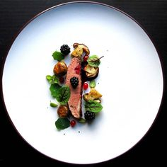 Duck - blackberries - beetroot - forest mushrooms