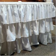 Ruffled Tablecloth From Generic White Tablecloths