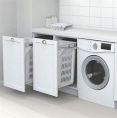Best 20 Laundry Room Makeovers - Organization and Home Decor Laundry room decor Small laundry room organization Laundry closet ideas Laundry room storage Stackable washer dryer laundry room Small laundry room makeover A Budget Sink Load Clothes Laundry Cupboard, Laundry Room Organization, Laundry Hamper, Laundry Bin, Laundry Basket Storage, Laundry Sorting, White Laundry Rooms, Laundry In Bathroom, Bathroom Storage