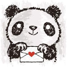 valentine Panda...valentine notes to frats and other sororities