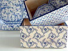 Cajas de madera maciza decoradas con decoupage. Wooden box decoupage. ww.elpiojito.es
