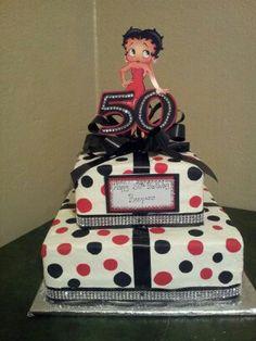 Betty Boop 50th birthday cake