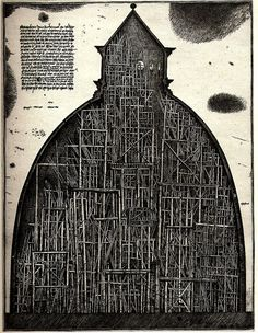 Brodsky & Utkin 'Paper Architects' etching (the Soviet duo trained as architects in the 1970s). Brooding and wonderful.