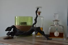 Simply place a seashell around a decanter and add some driftwood and you have a coastal inspired bar!