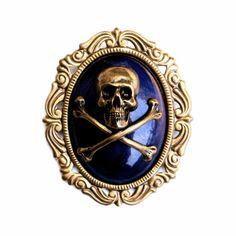 steampunk medal | STEAMPUNK PIRATE PIN Brooch Badge Medal Skull & Crossbones Cameo for ...