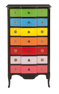 I want to do this for Maddy's new room.  Need an old dresser...anyone?  Monsieur meuble reprend des couleurs