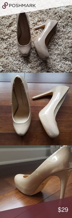 Platform Pumps worn twice Tan color 8M Chinese Laundry Shoes Heels