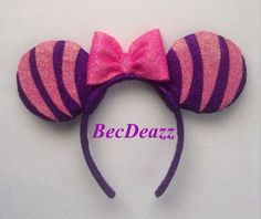 Disney Cheshire Cat Minnie Mouse ears headband by EarzbyBecDeazz