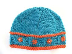 Instant Download PATTERN Knitted PREEMIE Hat with Flower Band on Etsy, $2.99