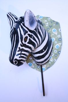 Paper mache zebra hook $72 at Loopy Mango - SoHo Boutique - 78 Grand St., New York - Product