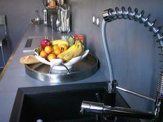 Cuisine en béton ciré (couleur Gris Aberdeen/Ma's)