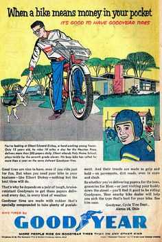 Good Year Bicycle Tires 1959