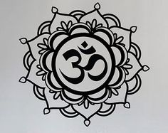 Mandala OM Wall Decal Sticker Buddha Absolute Brahman Hindu