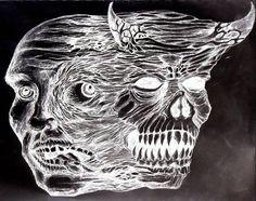 schizophrenic art A nefarious depiction of the affliction by Erik Baumann.