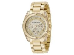 Shop for Michael Kors Women's Blair Goldtone Stainless Steel Chronograph Watch - Gold. Get free delivery On EVERYTHING* Overstock - Your Online Watches Store! Michael Kors Gold, Michael Kors Watch, Michael Kors Chronograph Watch, Oversized Watches, Mk Watch, Watch Box, Gold Face, Gold Plated Bracelets, Stainless Steel Bracelet
