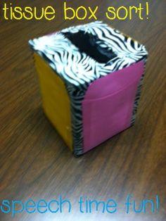Speech Time Fun: DIY Tissue Box Sort!