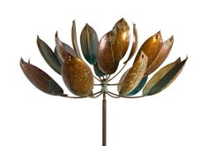 Lyman Whitaker - Lotus Sculpture (Kinetic Garden Art)