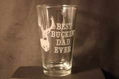 Drinking Glass Sandblasted Image Deer by CountryRichDesigns