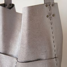 Alesia Leather Bag Gunmetal by stitchandtickle on Etsy