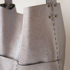 Alesia Leather Bag Gunmetal by stitchandtickle on Etsy