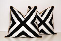 B Patchwork X Pillow by CCDeuxVie