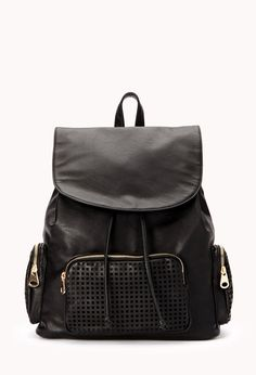 You CANNOT go wrong with this ADORABLE faux leather backpack from Forever 21. Totally in for fall!!! ^-^