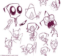 Invader Zim character sketch