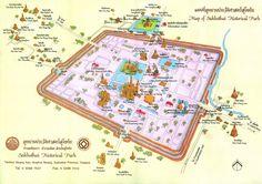 Mapa del Parque Histórico de Sukhothai - Haz clic para ampliarlo