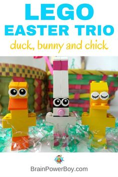 Make a cute (and easy) LEGO Easter Trio. LEGO Duck, LEGO Easter Bunny and LEGO Chick all included detailed building instructions and pictures. Grab a few bricks and make them today!