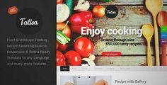 Download and review of Talisa - Food Recipes WordPress Theme, one of the best Themeforest Retail themes